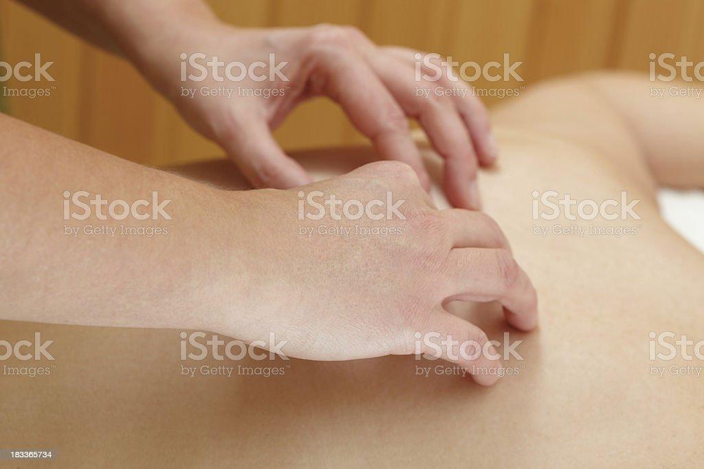 cranial sacral massage royalty-free stock photo