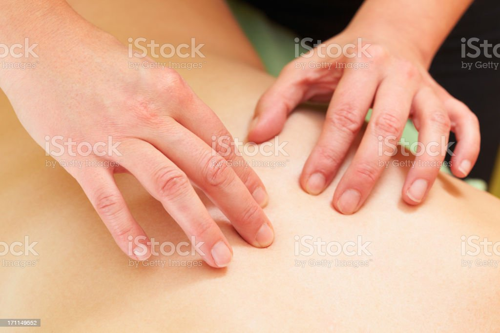 cranio-sacral therapy stock photo