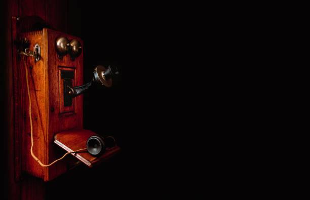 Crank Telephone in Orthogonal View stock photo