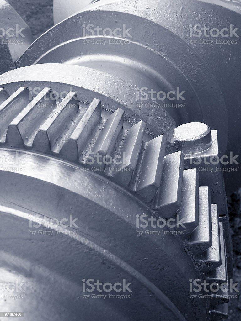 crankshaft with cogwheel royalty-free stock photo