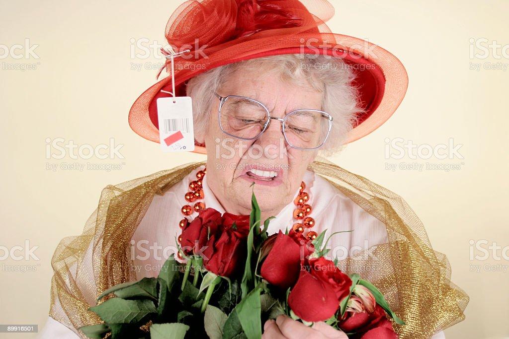 Cranky Granny royalty-free stock photo