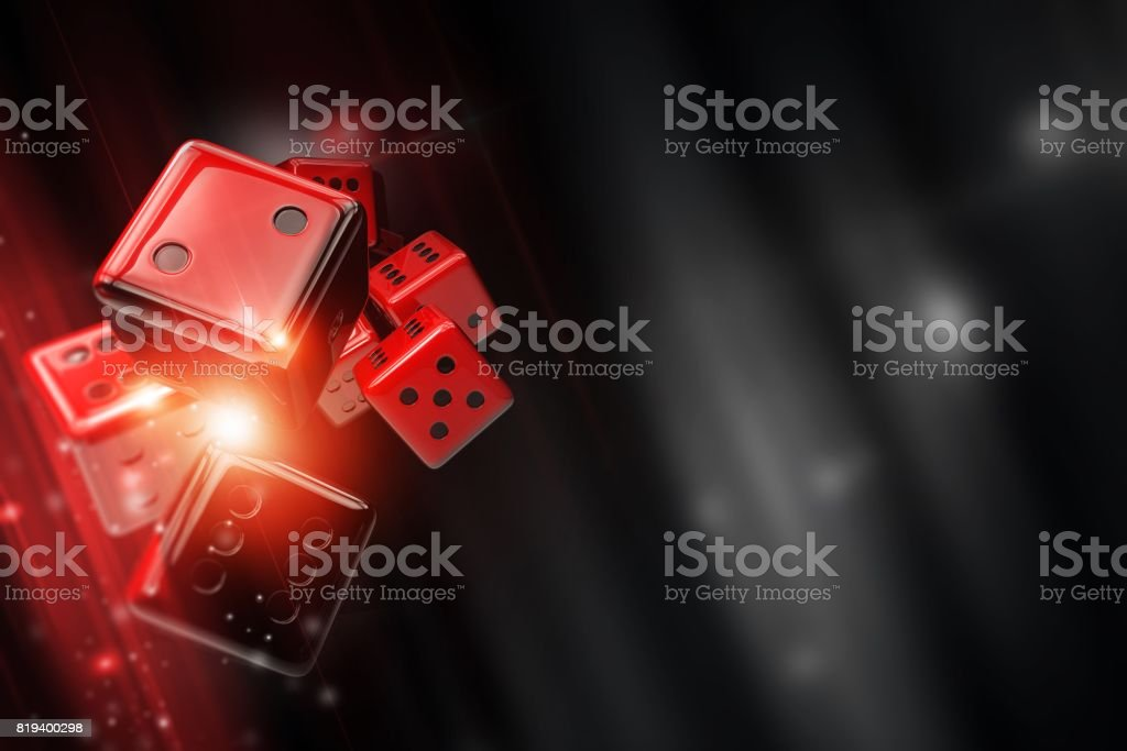 Craps Dice Casino Games stock photo
