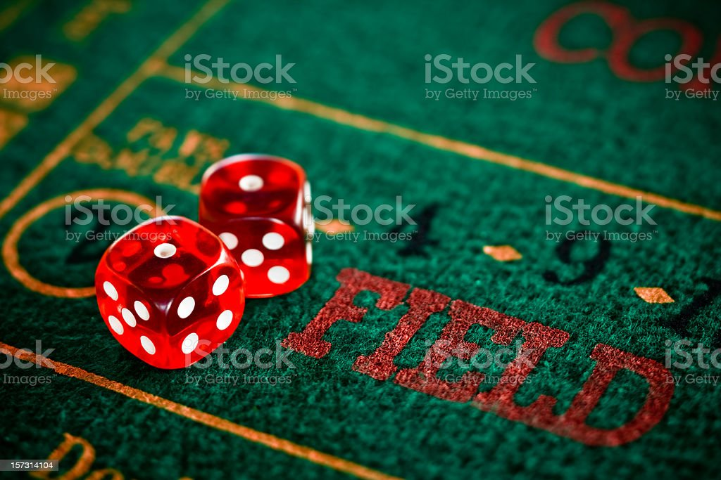 craps field bet (snake eyes) royalty-free stock photo