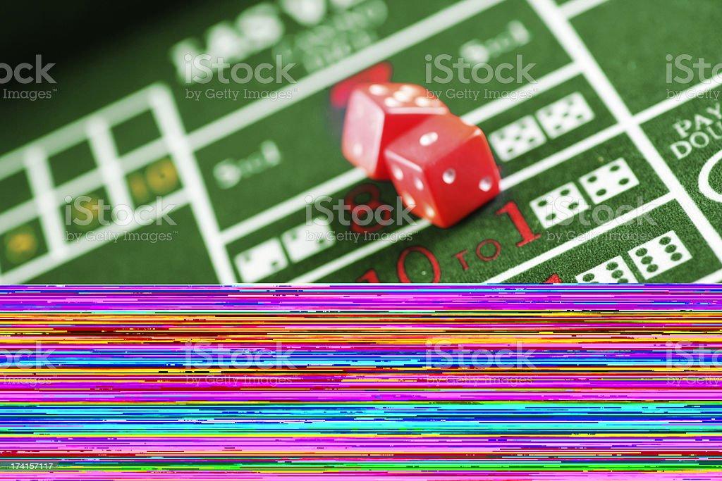 Craps table royalty-free stock photo