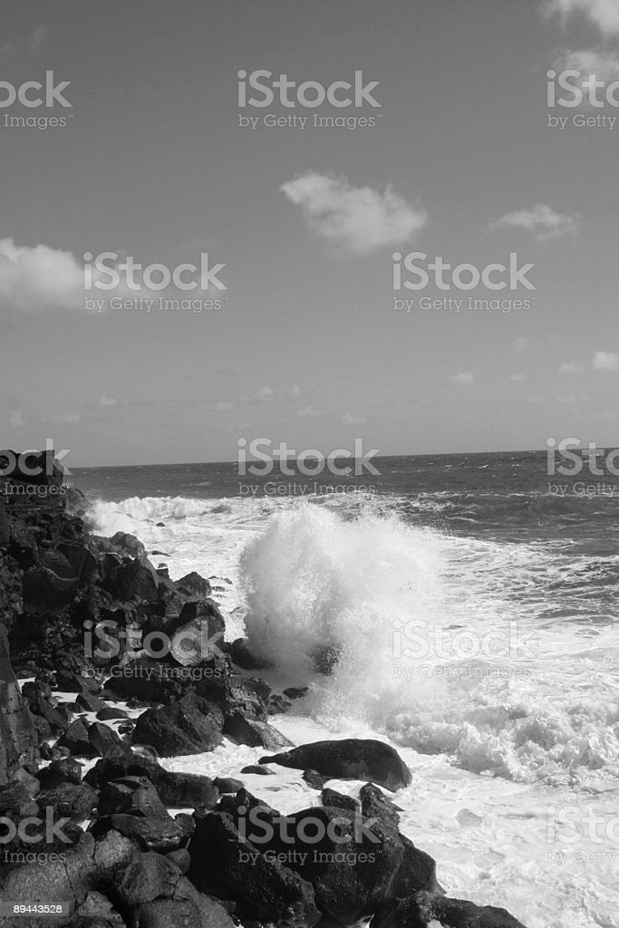 Crash 2 B&W royalty-free stock photo