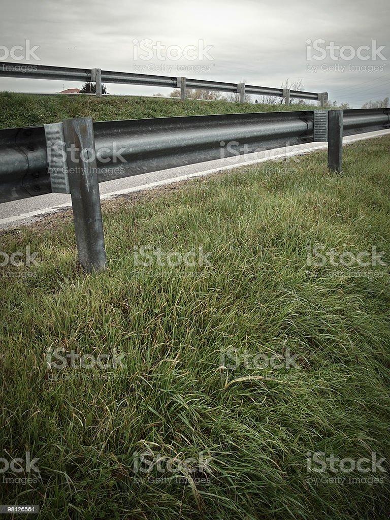 Crash barrier royalty-free stock photo