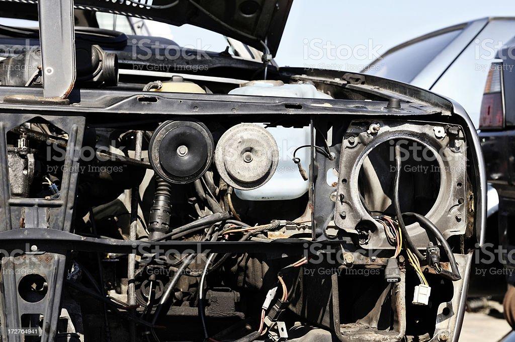 crash car detail royalty-free stock photo