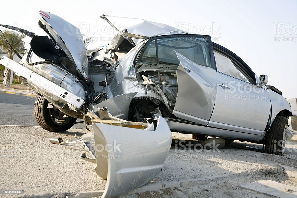 Crash Carnage royalty-free stock photo