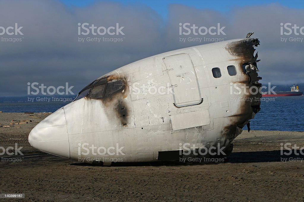 crash cockpit stock photo