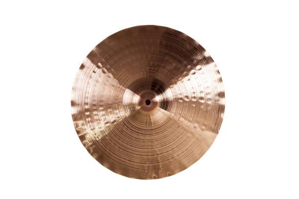 crash cymbal top view - cimbaal stockfoto's en -beelden