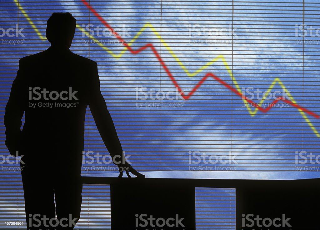 Crash in financial crisis stock photo