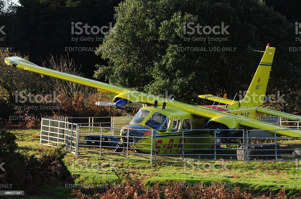 Crash landing, Jersey, U.K. royalty-free stock photo