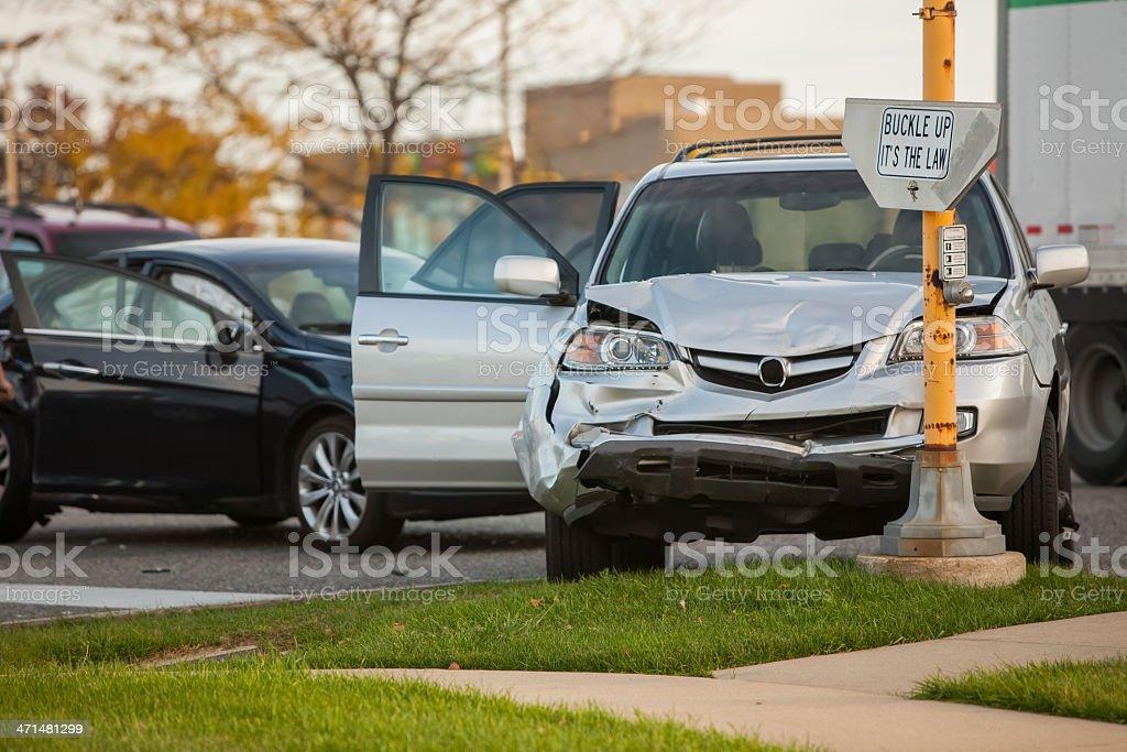 Accidente vehículo deportivo utilitario (SUV) - foto de stock
