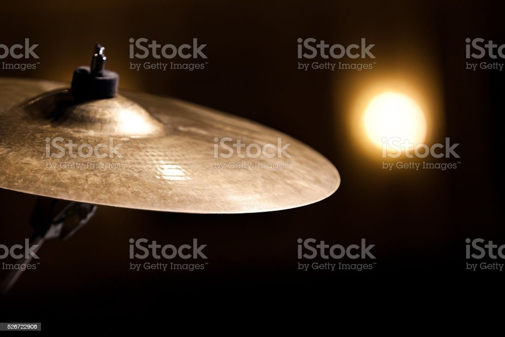 Crash Ride cymbal stock photo