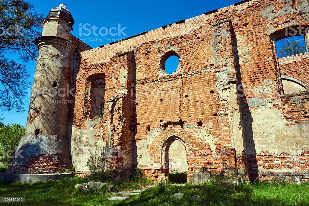 Crash rural Catholic church royalty-free stock photo