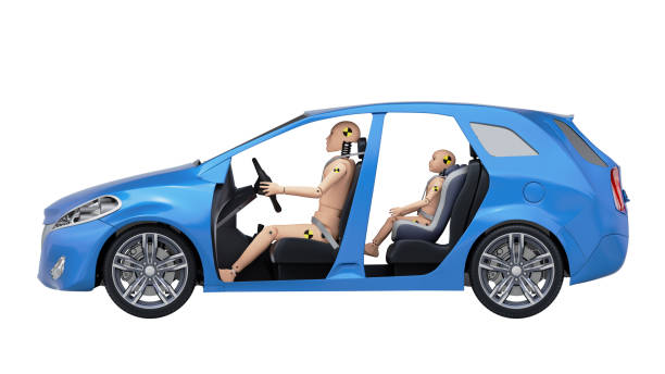Crash Test Dummies in the Car stock photo