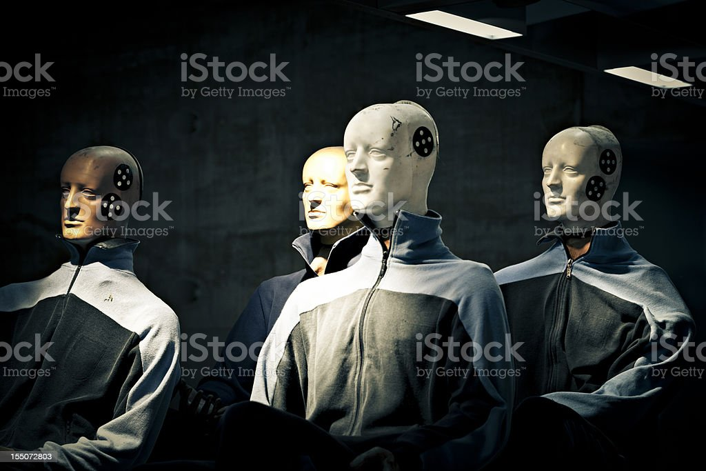crash test dummies stock photo