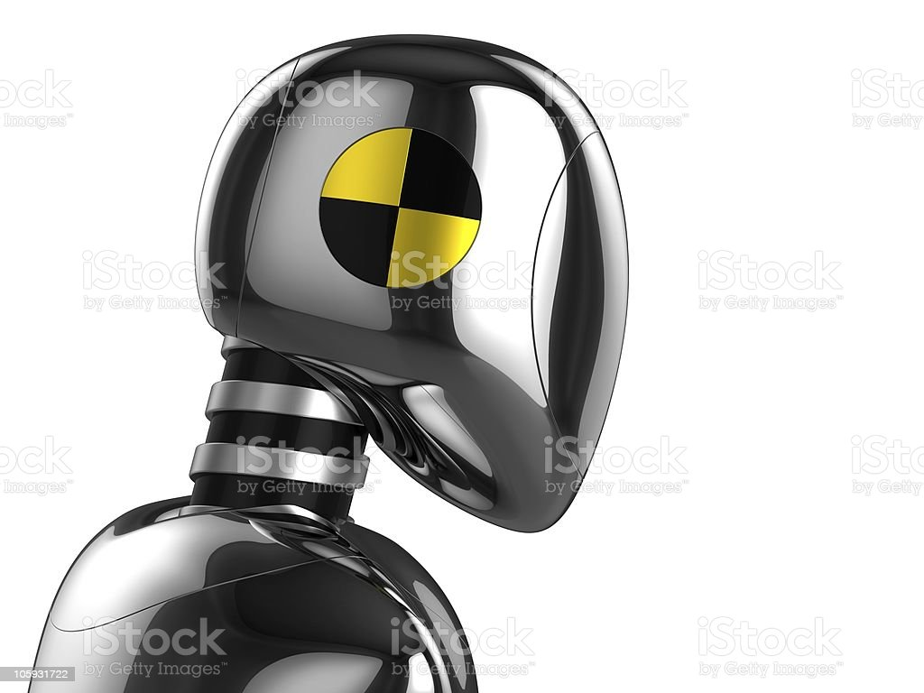 Crash Test Dummy concept stock photo