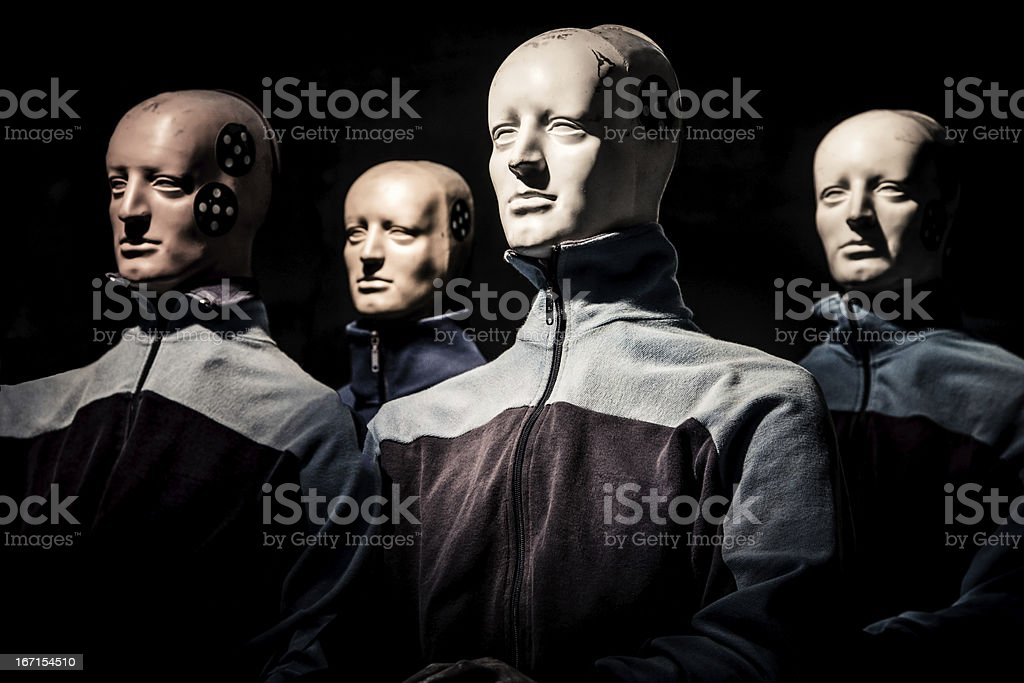 Crash Test Dummy Experiment stock photo