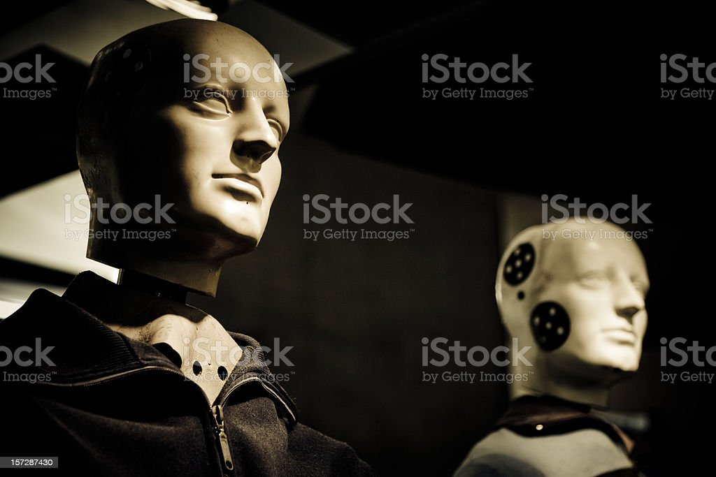 crash test dummy II stock photo