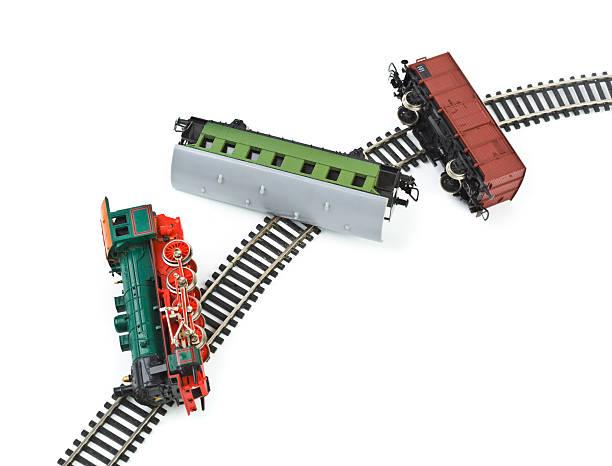 crash toy train - derail bildbanksfoton och bilder