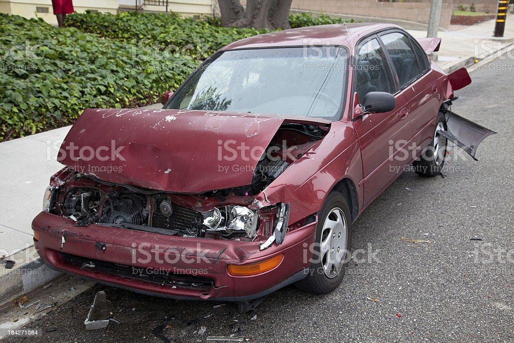 Crashed Car stock photo