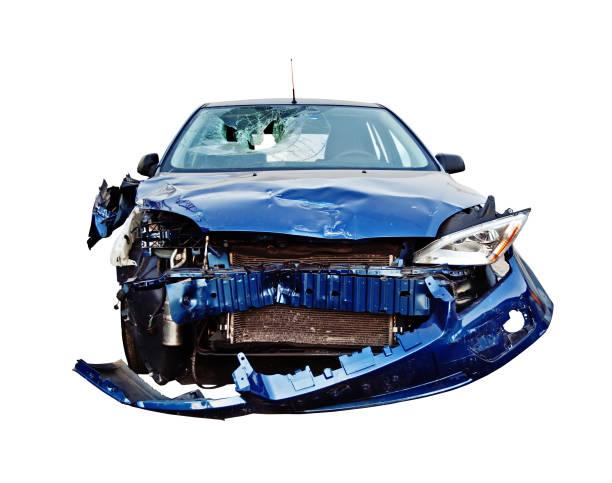 Caído automóvil - foto de stock