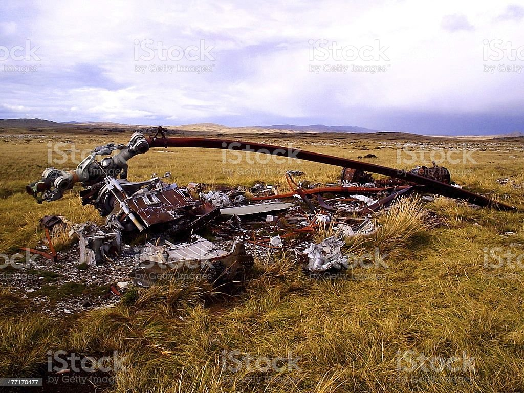 Caiu de helicóptero - foto de acervo