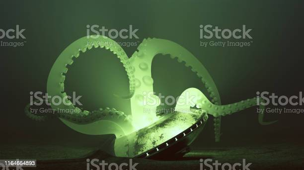 Crashed ufo with green semi transparent alien tentacles emerging with picture id1164664893?b=1&k=6&m=1164664893&s=612x612&h=h9bysilkdo8vpgdhmqjruoxyjkjix5xzqjxibgbw9h0=
