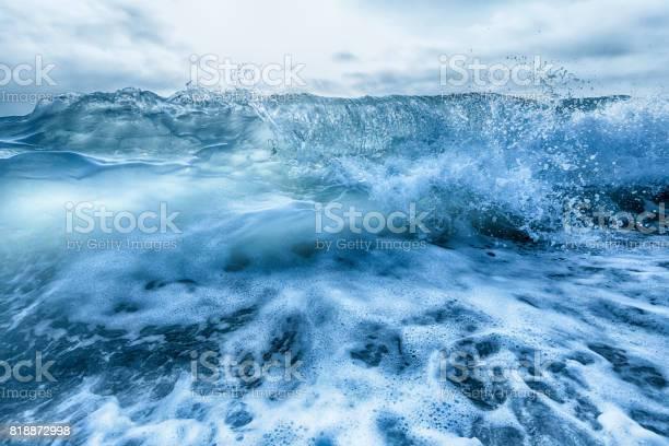 Photo of Crashing blue and white waves