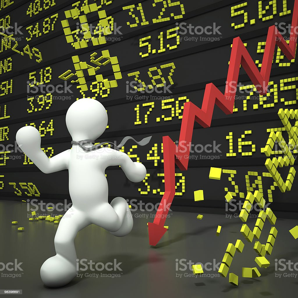 Crashing stock market royalty-free stock photo