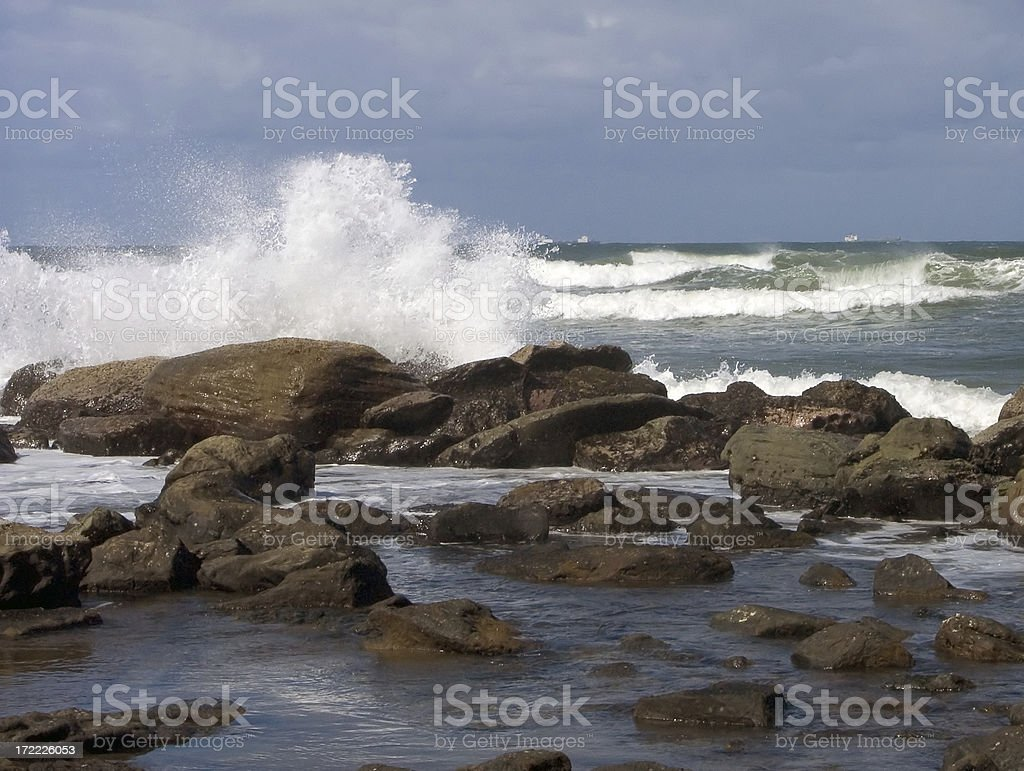 crashing surf royalty-free stock photo