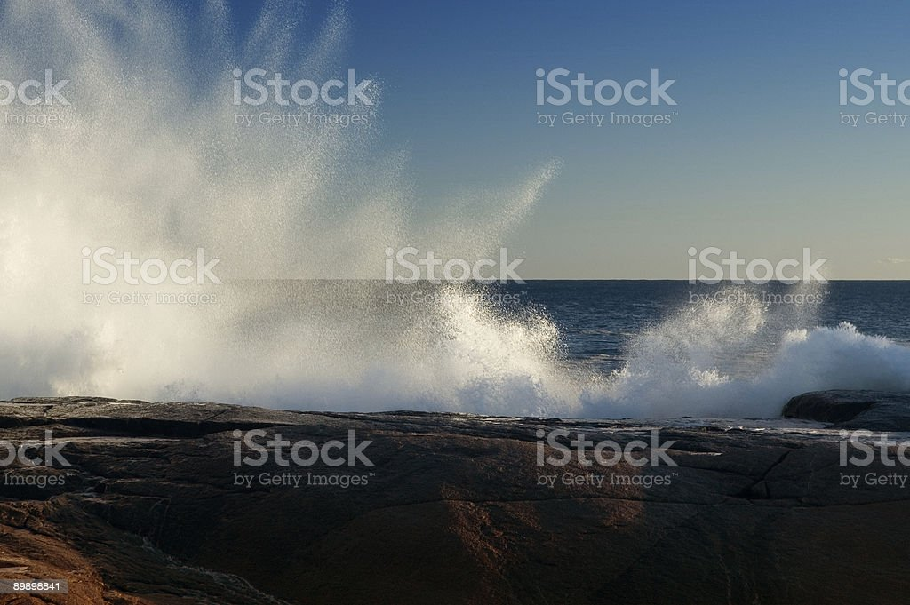 Crashing Wave royalty-free stock photo
