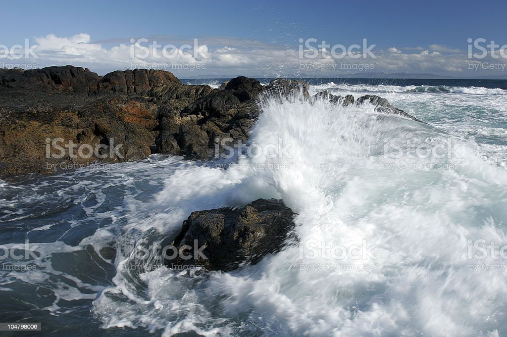 Crashing Waves royalty-free stock photo
