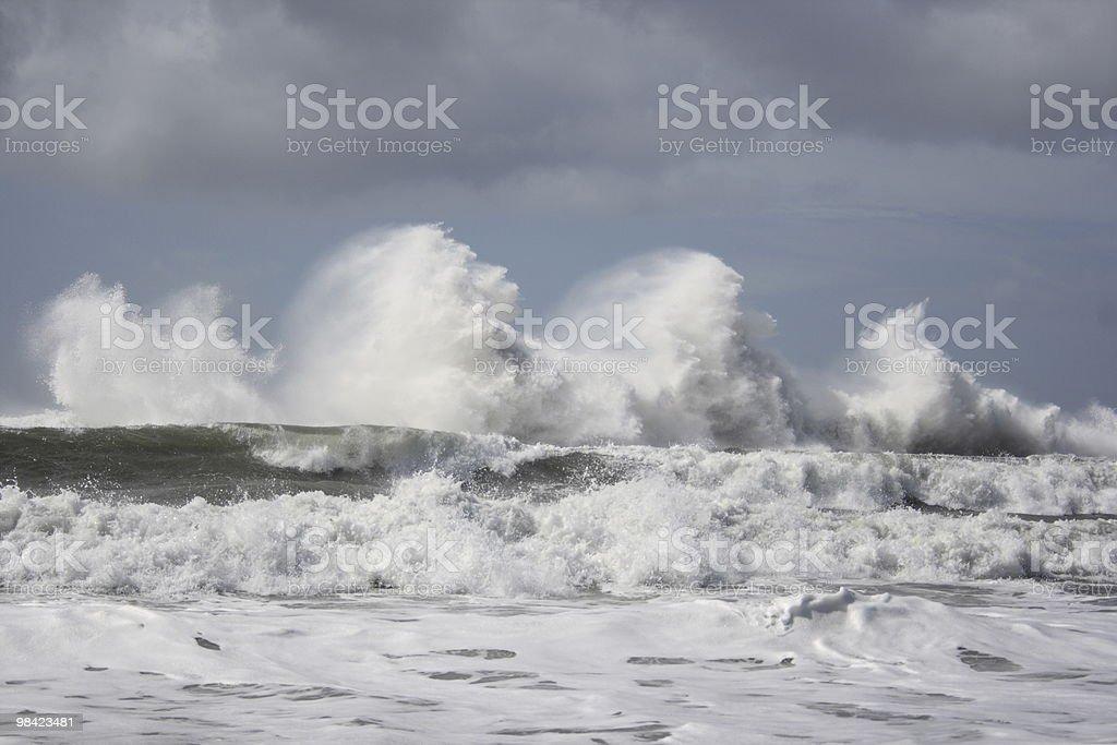 Crashing Waves royalty-free stock photo