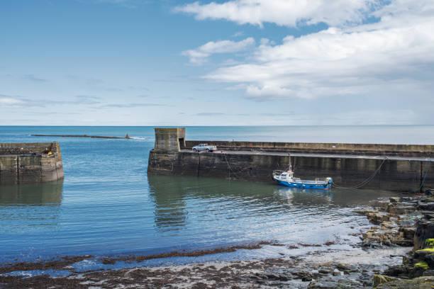 Craster Harbor, Northumberland, UK stock photo