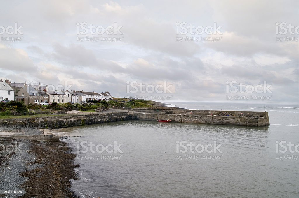 Craster Harbour stock photo