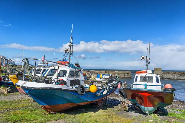Craster harbour stock photo
