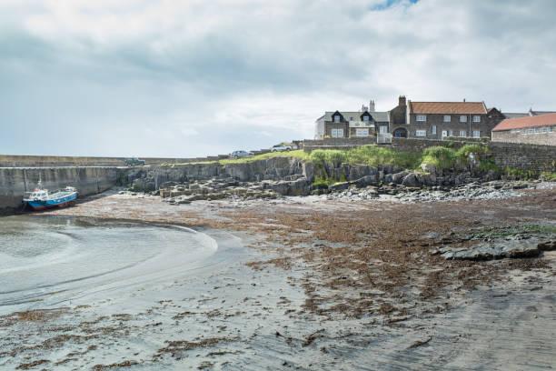 Craster, on the Northumberland coast, UK stock photo