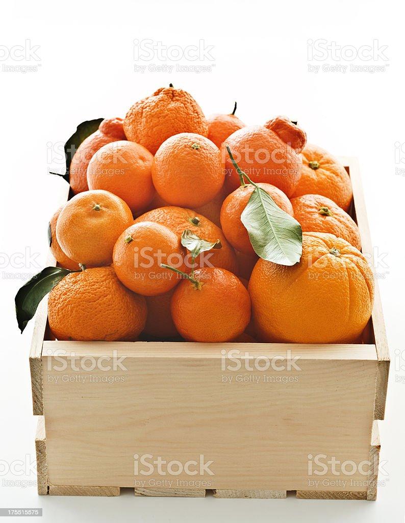 crate of oranges 2 stock photo