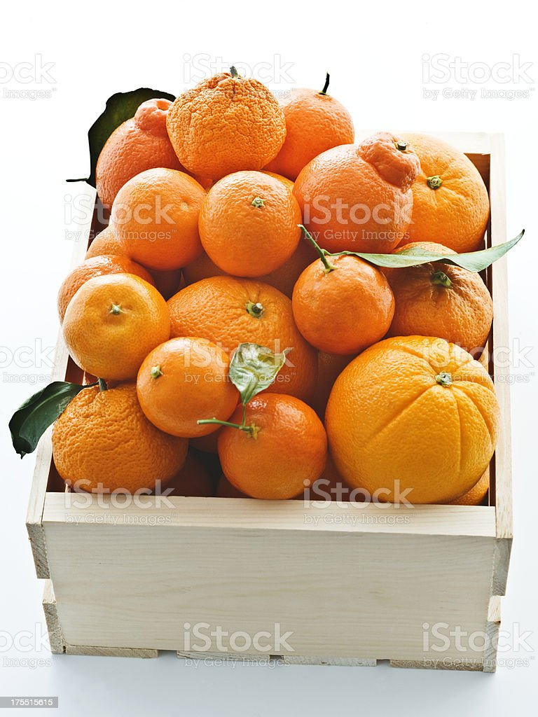 crate of oranges 3 stock photo