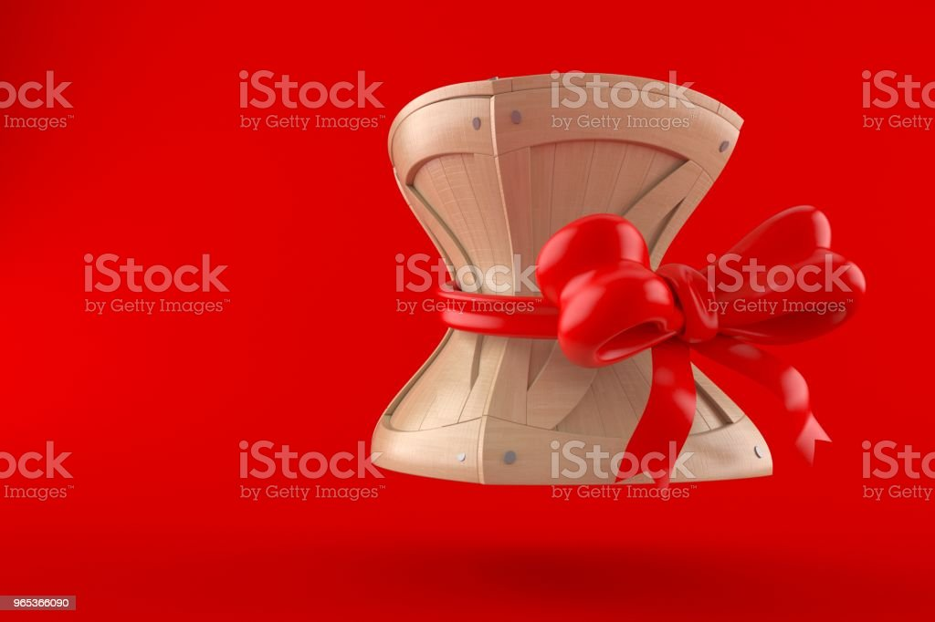Crate with ribbon royalty-free stock photo