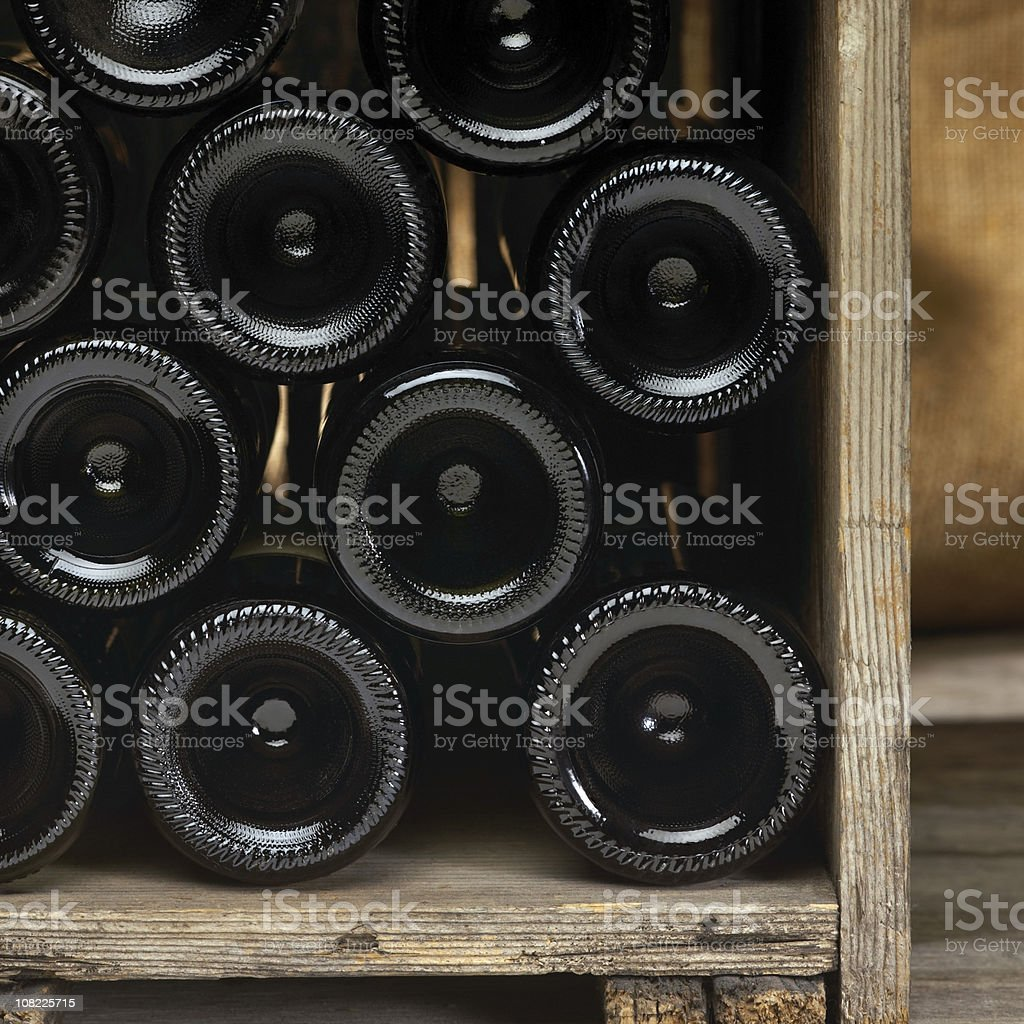 Crate with wine bottles royalty-free stock photo