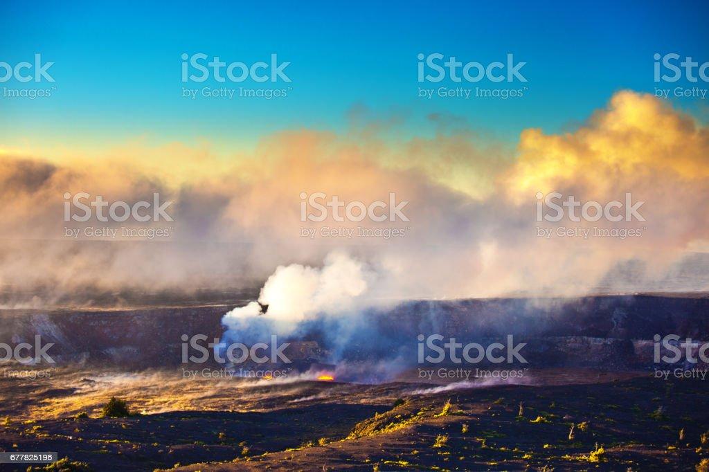 Crater at Hawaii Volcanoes National Park, Big Island, Hawaii stock photo