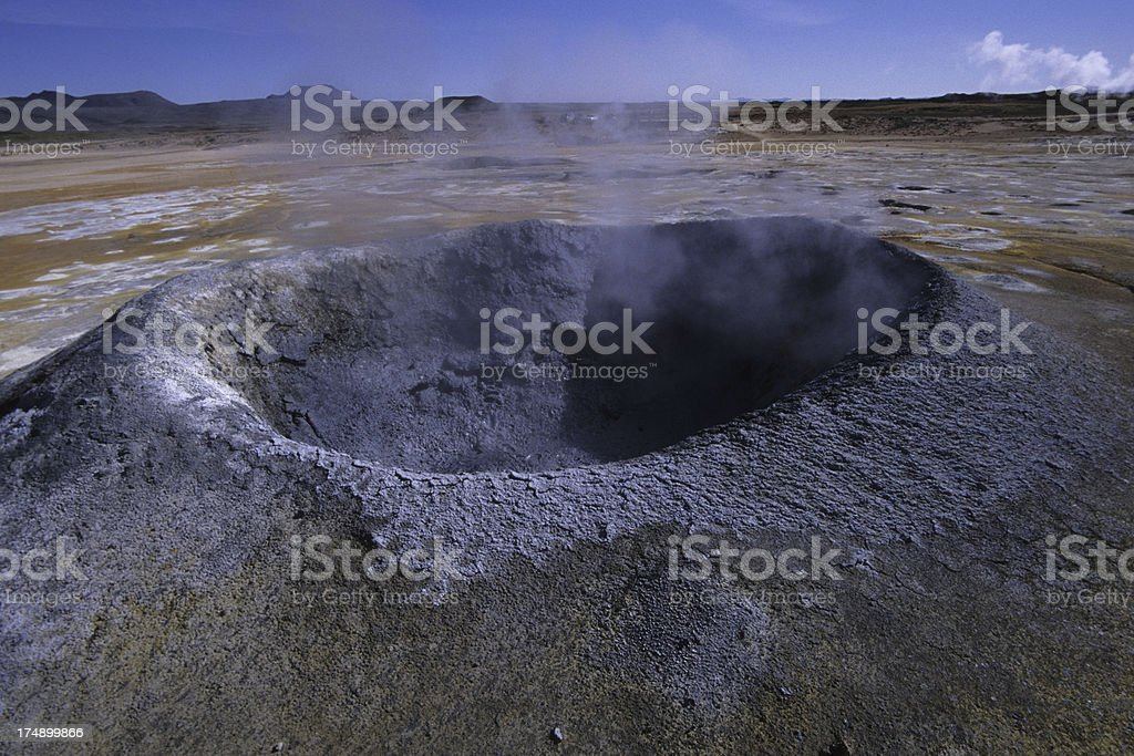 crater field in northern Iceland royalty-free stock photo