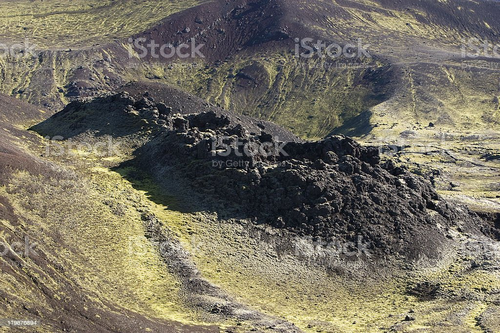 Crater in Iceland stock photo