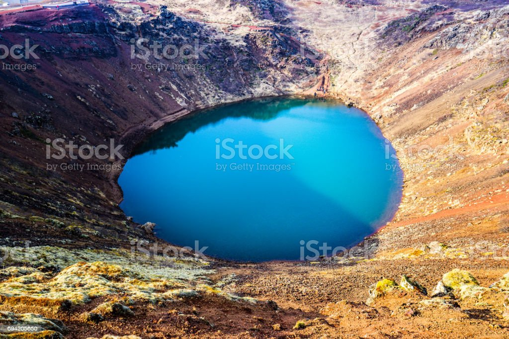 Crater Kerid at Golden Circle - Iceland stock photo
