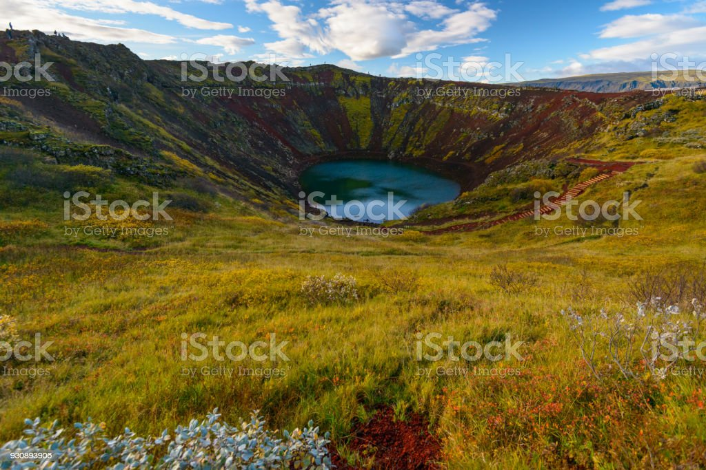 Crater Kerid at Golden Circle, Iceland stock photo