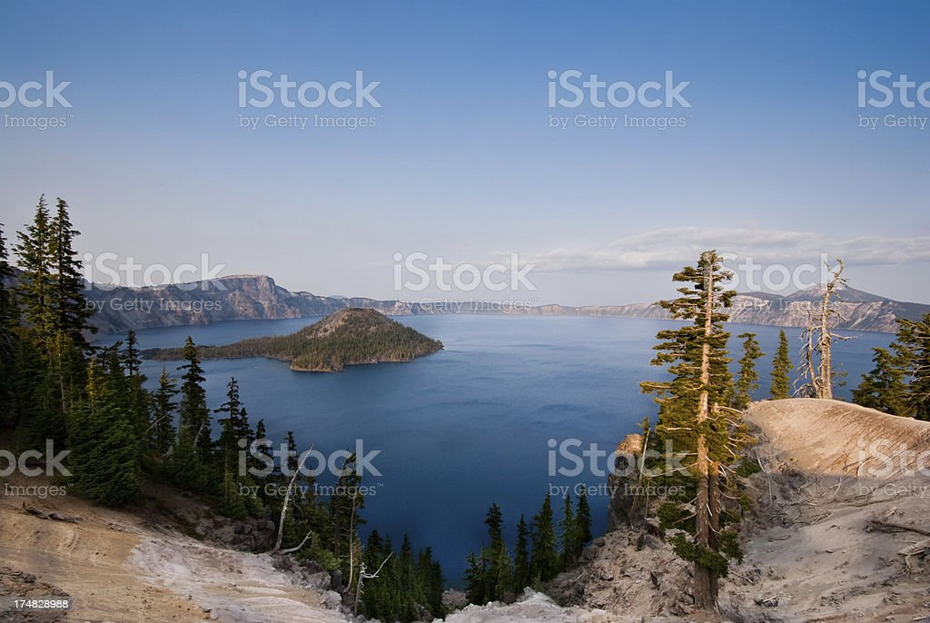 Crater Lake and Wizard Island royalty-free stock photo