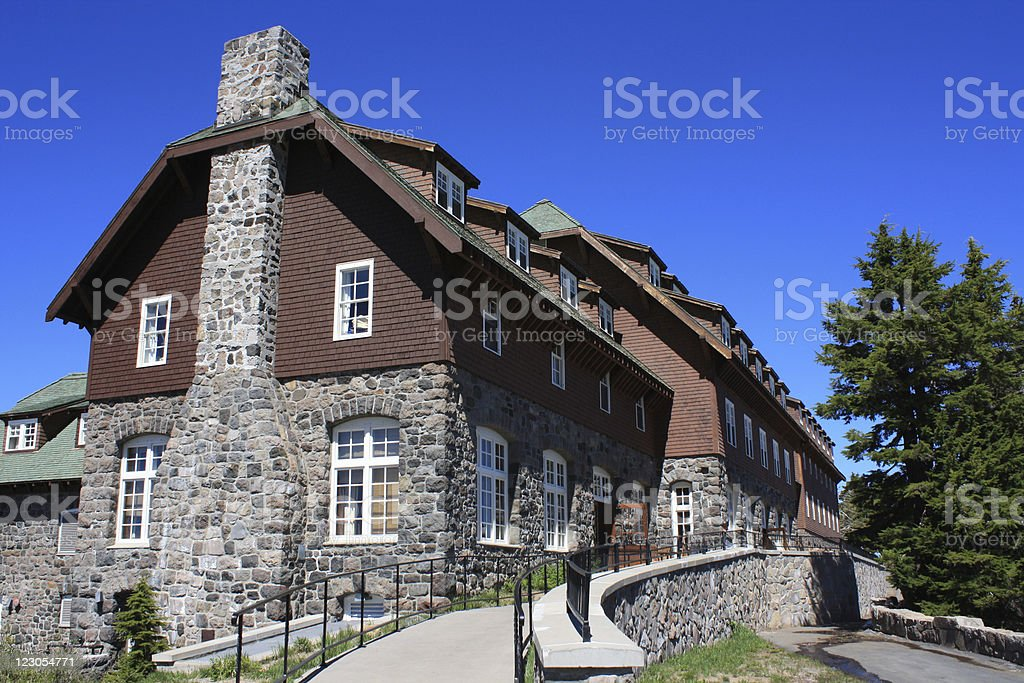 crater lake lodge, or - Royalty-free Color Image Stock Photo